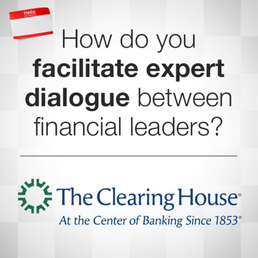 The Clearing House: The banking industry's premier annual conference required powerful communication and design to bring regulatory agency heads, bank CEOs, academics and thought leaders together.
